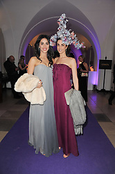 Left to right, SARAH FABER and DIANE SAID at The Surrealist Ball in aid of the NSPCC in association with Harpers Bazaar magazine held at the Banqueting House, Whitehall, London on 17th March 2011.