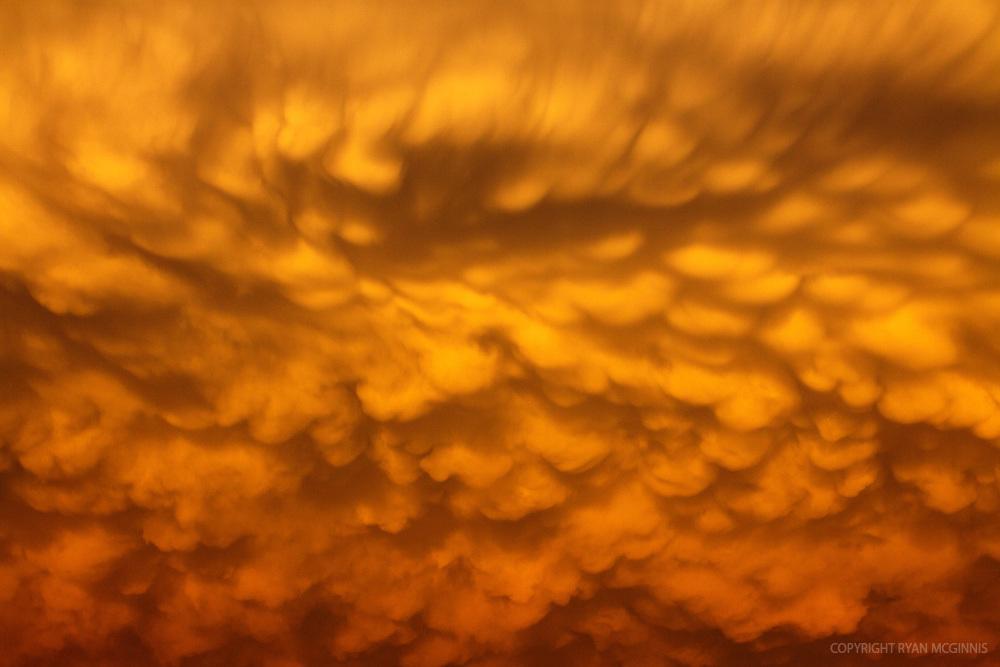 Mammatus clouds in Texas, June 14, 2010.