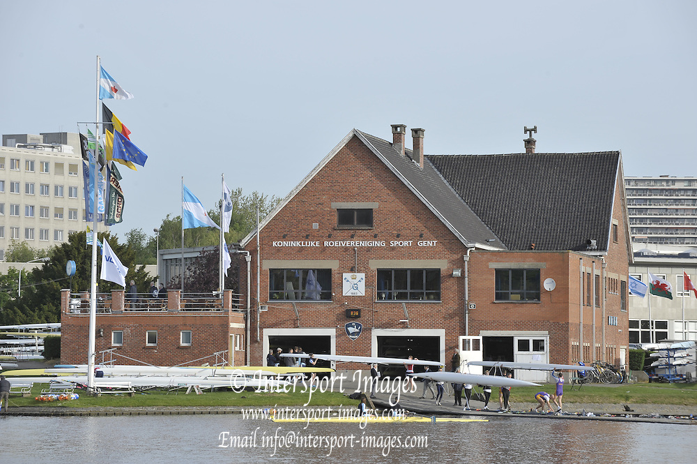 Gent, BELGIUM,  General views, Koninklijke Roeiveniging, Sport Club, Gent,  Boathouse and  Boating stages, at  the International Belgian Rowing Championships, Saturday 09/05/2009, [Mandatory Credit. Peter Spurrier/Intersport Images]