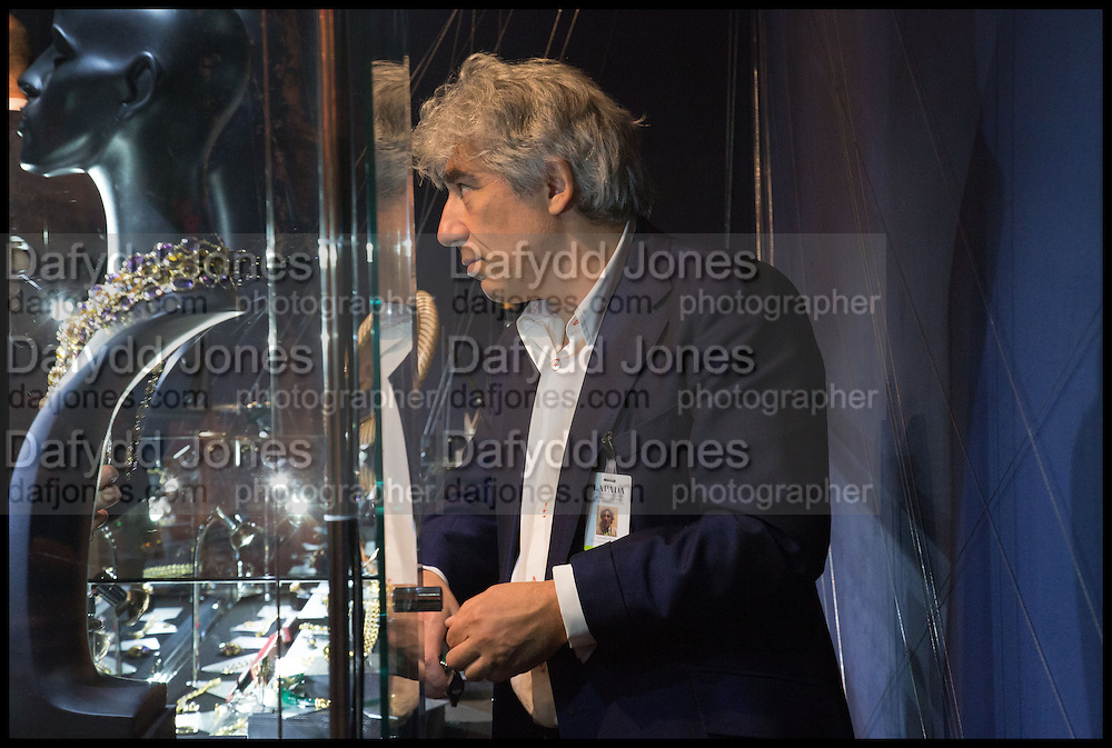 NICK SILVER at the preview of LAPADA Art and Antiques Fair. Berkeley Sq. London. 23 September 2014.