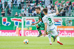 11.05.2019, Allianz Stadion, Wien, AUT, 1. FBL, SK Rapid Wien vs FC Wacker Innsbruck, Qualifikationsgruppe, 30. Spieltag, im Bild v. l. Sascha Horvath (FC Wacker Innsbruck), Mert Muelduer (SK Rapid Wien) // f. l. Sascha Horvath (FC Wacker Innsbruck) Mert Muelduer (SK Rapid Wien) during the tipico Bundesliga qualification group 30th round match between SK Rapid Wien and FC Wacker Innsbruck at the Allianz Stadion in Wien, Austria on 2019/05/11. EXPA Pictures © 2019, PhotoCredit: EXPA/ Florian Schroetter