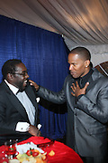 l to r: Eddie Levert and Jaime Foxx at the The Radio One Inaugural Celebration 2009 Hennessey VIP Lounge Salute held at Lincoln Theater in Washington, DC on January 17, 2009..CATHY HUGHES, RADIO ONE FOUNDER AND CHAIRPERSON had a Hometown Inaugural Salute to President Barack Obama and Tom Joyner at the Lincoln Theater in Washington DC. Hennessy hosted celebrities and guests in a branded Hennessy lounge where Tatiana Ali interviewed celebrities about their feelings toward the Barack Obama Presidency. Celebrities in attendance included Jamie Foxx, Alonzo Morning, Eddie Levert, T. D. Jakes, Rev. Al Sharpton, Jackie Reid, Roland Martin, Dick Gregory, Raheem DaVaughn, Bow Bow, and more. Hennessy presented a commemorative Hennessy 44 Bottle which was signed by numerous celebrities which will be auctioned to create 4 four-year scholarships via the Thrugood Marshall College Fund...