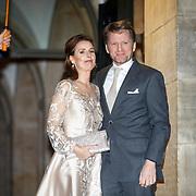 NLD/Amsterdam/20180203 - 80ste Verjaardag Pr.Beatrix, aankomst Pieter-Christiaan van Oranje-Nassau, Van Vollenhoven en partner  Anita van Eijk