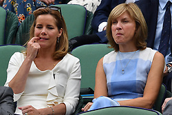 July 11, 2017 - London, London, United Kingdom - Image ©Licensed to i-Images Picture Agency. 11/07/2017. London, United Kingdom. Wimbledon Tennis Championships 2017-Day Eight.  Darcey  Bussell and Fiona Bruce in the royal box for the Novak Djokovic v Adrian Mannarino match on centre court at Wimbledon.  Picture by Andrew Parsons / i-Images (Credit Image: © Andrew Parsons/i-Images via ZUMA Press)