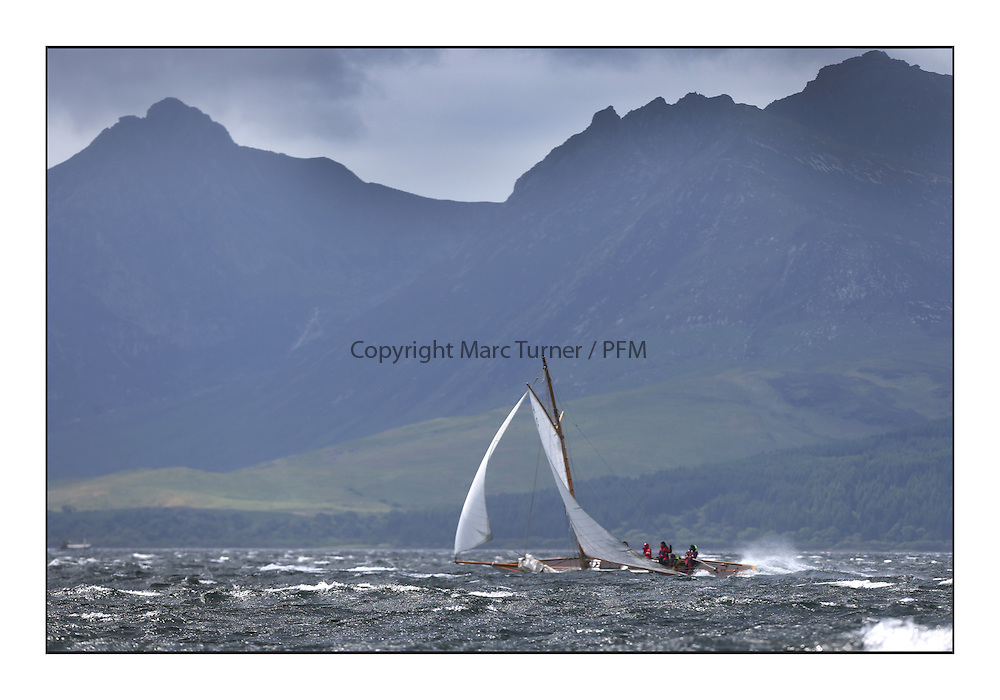 Day five of the Fife Regatta, Race from Portavadie on Loch Fyne to Largs. <br /> The Truant, Ross Ryan, GBR, Gaff Cutter 8mR, Wm Fife 3rd, 1910<br /> <br /> <br /> * The William Fife designed Yachts return to the birthplace of these historic yachts, the Scotland&rsquo;s pre-eminent yacht designer and builder for the 4th Fife Regatta on the Clyde 28th June&ndash;5th July 2013<br /> <br /> More information is available on the website: www.fiferegatta.com