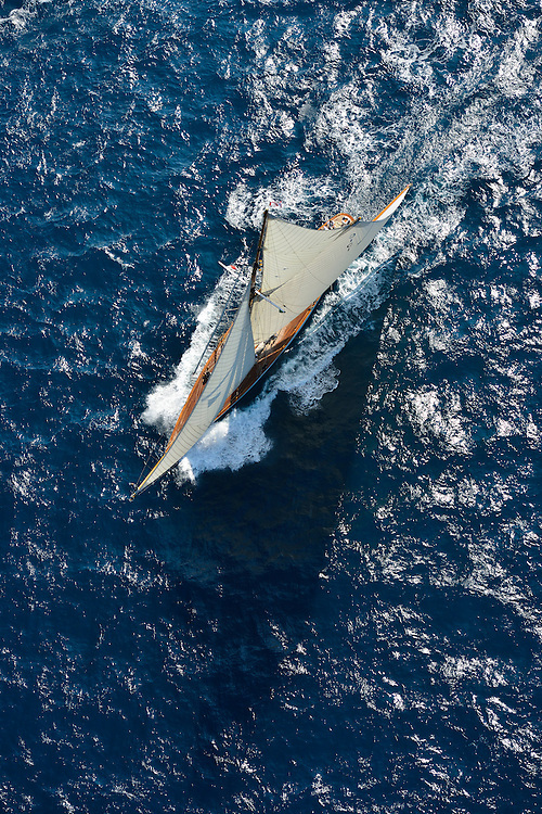 France Saint - Tropez October 2013, Classic yachts racing at the Voiles de Saint - Tropez<br /> C,C1,MARIQUITA,&quot;33,7&quot;,19M JI AURIQUE/1911,WILLIAM FIFE