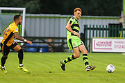 Forest Green Rovers Mark Roberts(21) passes the ball forward during the EFL Trophy match between Forest Green Rovers and Newport County at the New Lawn, Forest Green, United Kingdom on 29 August 2017. Photo by Shane Healey.