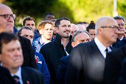 Ben Breeze looks on during the Remembrance Service outside the Memorial Gates at Bristol Rovers' Memorial Stadium - Rogan/JMP - 10/11/2017 - FOOTBALL - Memorial Stadium - Bristol, England.
