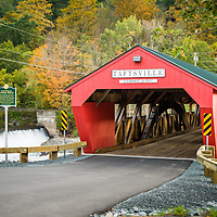 Taftsville Covered Bridge, Vermont.<br /> <br /> All Content is Copyright of Kathie Fife Photography. Downloading, copying and using images without permission is a violation of Copyright.