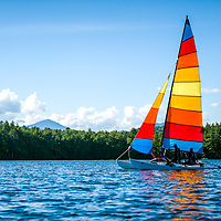 Sailing on a New Hampshire lake.<br />