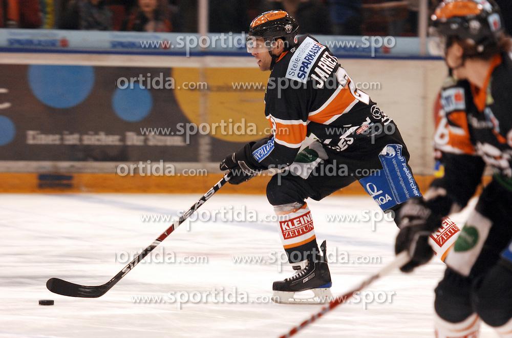 25.02.2010, Eisstadion Liebenau, Graz, AUT, EBEL, Graz 99ers vs KHL Zagreb, im Bild Rodney Jarrett (2, 99ers), EXPA Pictures © 2010, PhotoCredit: EXPA/ J. Hinterleitner / SPORTIDA PHOTO AGENCY.
