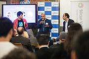 The Silicon Valley Forum host their annual Japanese Pitch Night at COVO in San Francisco, California, on November 29, 2018. (Stan Olszewski/SOSKIphoto)