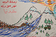 Paintings by Syrian girl, Idomeni