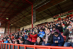 Bristol Academy fans - Photo mandatory by-line: Dougie Allward/JMP - Mobile: 07966 386802 - 21/03/2015 - SPORT - Football - Bristol - Ashton Gate Stadium - Bristol Academy v FFC Frankfurt - UEFA Women's Champions League - Quarter Final - First Leg