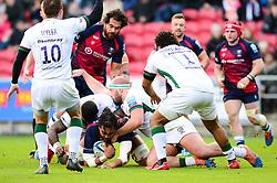 Chris Vui of Bristol Bears is tackled - Mandatory by-line: Dougie Allward/JMP - 01/12/2019 - RUGBY - Ashton Gate - Bristol, England - Bristol Bears v London Irish - Gallagher Premiership Rugby