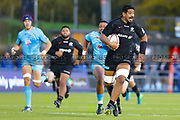Saracens lock Will Skelton (5) runs with the ball during the Premiership Rugby Cup match between Saracens and Worcester Warriors at Allianz Park, Hendon, United Kingdom on 11 November 2018.