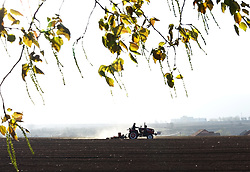 April 27, 2018 - Huludao, Huludao, China - Huludao, CHINA-27th April 2018: Peasants are busy with peanut sowing in Huludao, China's Liaoning Province, April 27th, 2018. (Credit Image: © SIPA Asia via ZUMA Wire)