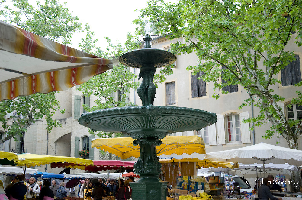 The market in Uzes, France