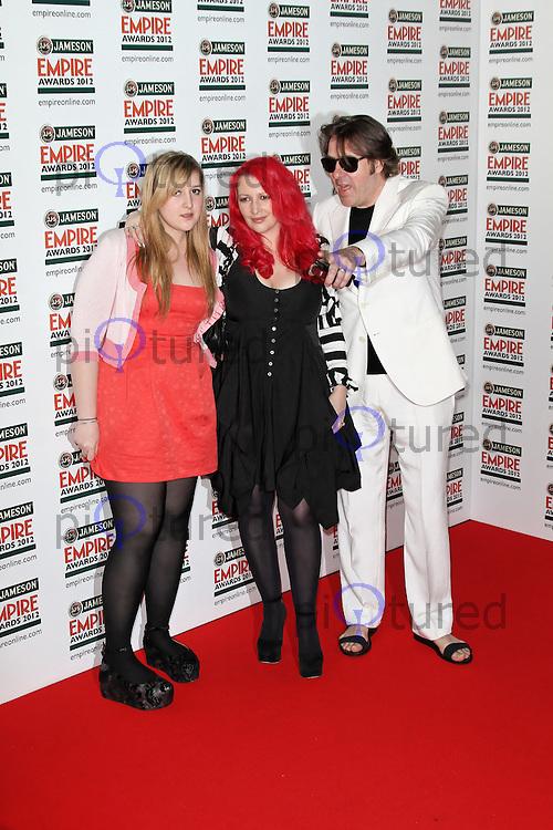 LONDON - MARCH 25: Honey Kinney; Jane Goldman; Jonathan Ross attend the Jameson Empire Awards 2012 at the Grosvenor House Hotel, London, UK. March 25, 2012. (Photo by Richard Goldschmidt)