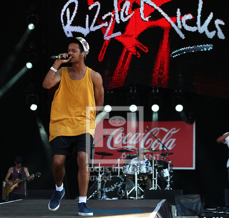 Picture by Paul Terry/Focus Images Ltd. 07545 642257.26/07/12.Harley Alexander-Sule of Rizzle Kicks performs at the London 2012 Olympic Torch Relay Finale Concert in London's Hyde Park,  Presented by Coca Cola. London, England.