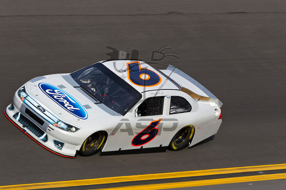 12 January, 2012:   Ricky Stenhouse, Jr. (6) brings his Roush Fenway Ford down the front stretch during open testing for the NASCAR Sprint Cup Series at the Daytona International Speedway in Daytona Beach, FL.