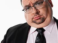 Overweight Businessman portrait