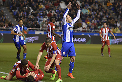 March 2, 2017 - La Coruna, Spain - Fernando Torres is fallen and Bergantiños asks for help. La Liga Santander Matchday 25. Riazor Stadium, La Coruna, Spain. March 02, 2017. (Credit Image: © Monica Arcay Carro/VW Pics via ZUMA Wire/ZUMAPRESS.com)