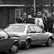 NLD/Hilversum/19921007 - Minclerstraat Hilversum schietpartij geweest + arrestatieteam maakt zich gereed