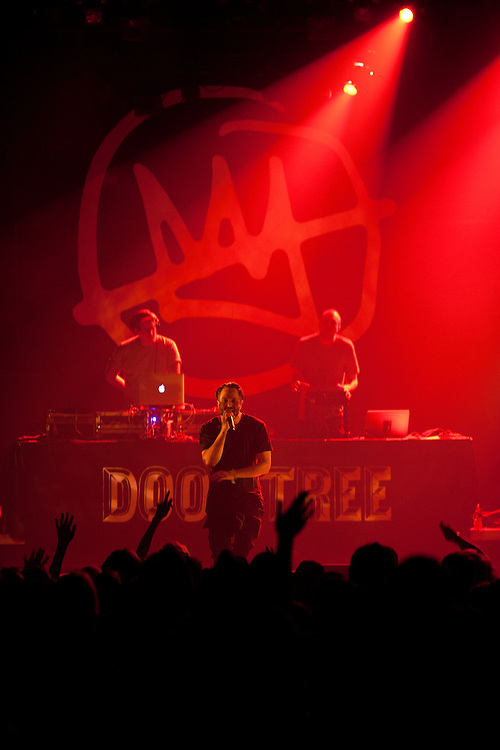 Minneapolis hip hop collective Doomtree performs at The Englert Theater in Iowa City, Iowa on Friday, November 6, 2015 during the first day of the Witching Hour Festival. The band has been featured nationally and internationally and has more than 50 releases under its belt.