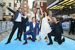 (left to right) Daniel Mays, Thomas Turgoose Jim Carter, Rob Brydon, Charlotte Riley, Oliver Parker and Rupert Graves attending the Swimming with Men premiere held at Curzon Mayfair, London. PRESS ASSOCIATION Photo. Picture date: Wednesday July 4, 2018. Photo credit should read: Ian West/PA Wire