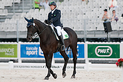 Sergio Froes Ribeiro Oliva riding Emily in the Grade 1a Para-Dressage at the 2014 World Equestrian Games, Caen, Normandy, France..