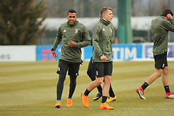 March 6, 2018 - Vinovo, Piedmont, Italy - Alex Sandro  (Juventus FC) during the training on the eve of the second leg of the Round 16 of the UEFA Champions League 2017/18 between Juventus FC and Tottenham Hotspur FC at Juventus Training Center on 06 March, 2018 in Vinovo (Turin), Italy. (Credit Image: © Massimiliano Ferraro/NurPhoto via ZUMA Press)