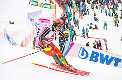 26.01.2020, Streif, Kitzbühel, AUT, FIS Weltcup Ski Alpin, Slalom, Herren, 2. Lauf, im Bild Erik Read (CAN) // Erik Read of Canada in action during his 2nd run in the men's Slalom of FIS Ski Alpine World Cup at the Streif in Kitzbühel, Austria on 2020/01/26. EXPA Pictures © 2020, PhotoCredit: EXPA/ Johann Groder