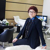CHENGDU, 10/17/2012 :   Wu Yali, Vorsitzende der Audi New Elements Gruppe in Chengdu, in ihrem luxurioesen Buero.