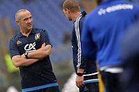 Conor O'Shea, Italy coach <br /> Roma 05-02-2017, Stadio Olimpico<br /> Rugby 6 Nations Tournament <br /> Italia - Galles / Italy - Walles <br /> <br /> Foto Antonietta Baldassarre Insidefoto