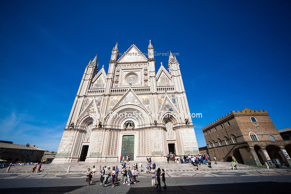 The Duomo di Orvieto a fourteenth century Roman Catholic cathedral Orvieto, Umbria, Italy