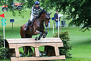Vitorio Du Montet ridden by Maxime Livio in the Equi-Trek CCI-L4* Cross Country during the Bramham International Horse Trials 2019 at Bramham Park, Bramham, United Kingdom on 8 June 2019.