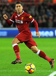 Roberto Firmino of Liverpool in action - Mandatory by-line: Nizaam Jones/JMP - 22/01/2018 - FOOTBALL - Liberty Stadium- Swansea, Wales - Swansea City v Liverpool - Premier League