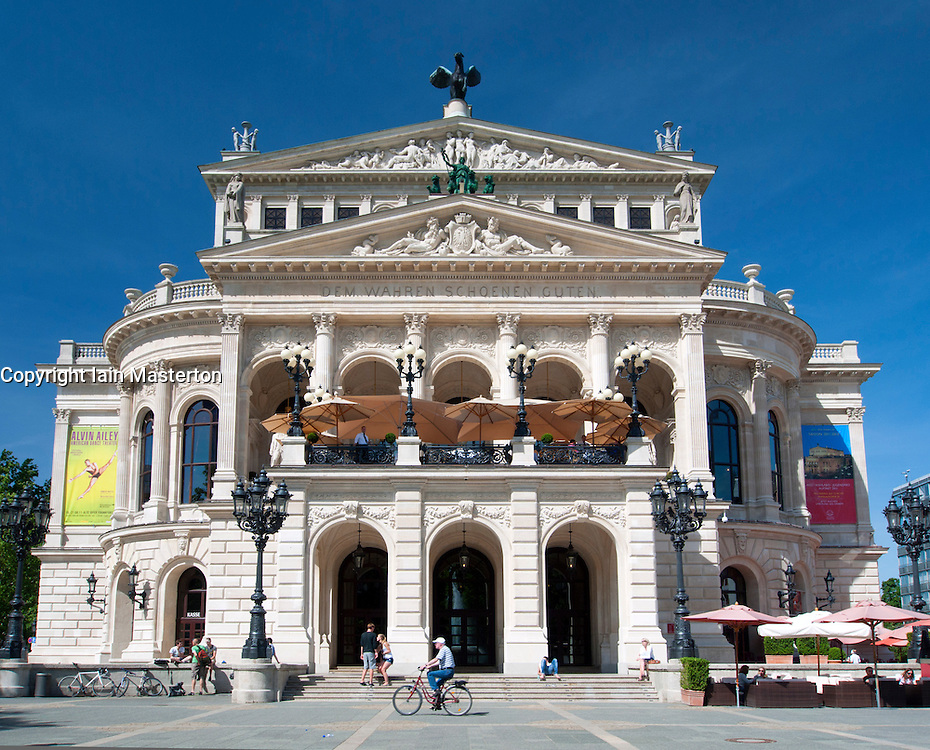 Old Opera House in Frankfurt Germany