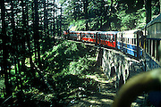 KC520 vintage steam engine hauls the Kalka-Shimla mountain railway on the centenary day of the railway in 2003.This spectacular railway is a marvel of British engineering.