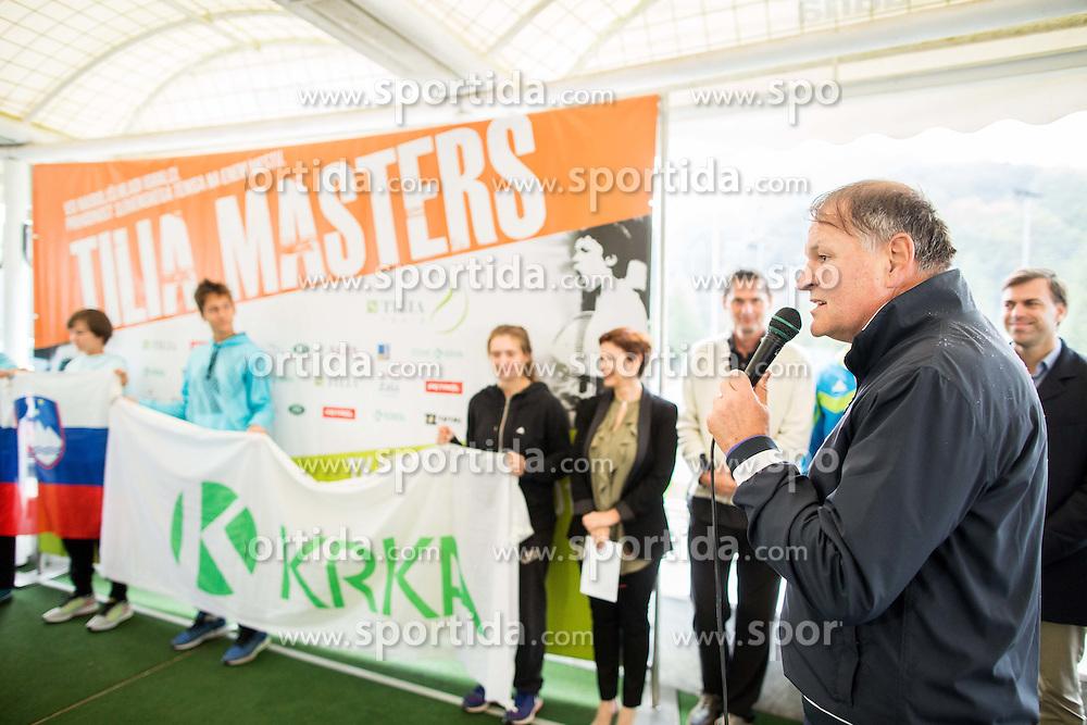 Marko Umberger, president of TZS at Tennis tournament Tilia Masters 2015, on October 3, 2015 in TK Krka Otocec, Slovenia. Photo by Vid Ponikvar / Sportida