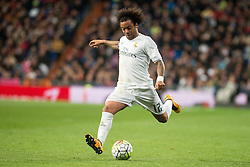 20.03.2016, Estadio Santiago Bernabeu, Madrid, ESP, Primera Division, Real Madrid vs Sevilla FC, 30. Runde, im Bild Real Madrid's Marcelo Vieira // during the Spanish Primera Division 30th round match between Real Madrid and Sevilla FC at the Estadio Santiago Bernabeu in Madrid, Spain on 2016/03/20. EXPA Pictures © 2016, PhotoCredit: EXPA/ Alterphotos/ Borja B.Hojas<br /> <br /> *****ATTENTION - OUT of ESP, SUI*****