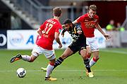Jeremy Helmer of AZ Alkmaar, Paolo Fernandes of NAC Breda, Thomas Ouwejan of AZ Alkmaar