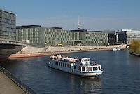 Tourists boats on the Spree, Berlin, Germany.