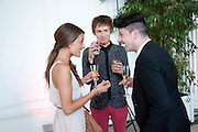 LAURA ADAMS; JOE WORRICKER; SILVIO FIGONI, English National Ballet Summer party.  All proceeds from the Summer Party go towards English National Ballet. The Orangerie. Kensington Palace. London. 29 June 2011. <br /> <br />  , -DO NOT ARCHIVE-© Copyright Photograph by Dafydd Jones. 248 Clapham Rd. London SW9 0PZ. Tel 0207 820 0771. www.dafjones.com.
