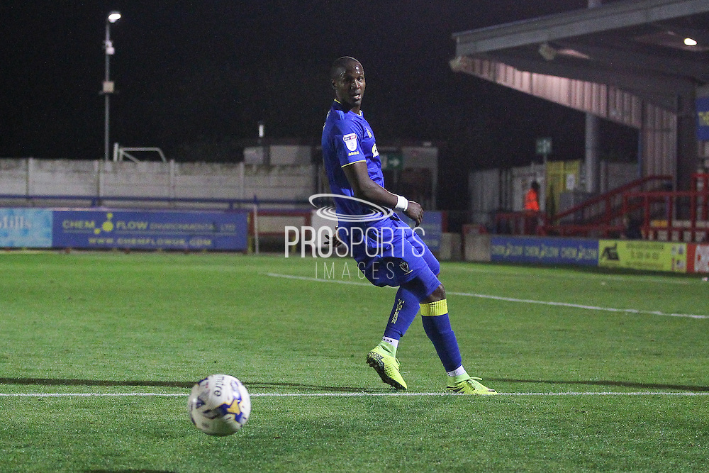 AFC Wimbledon striker Tom Elliott (9) during the EFL Trophy match between AFC Wimbledon and Plymouth Argyle at the Cherry Red Records Stadium, Kingston, England on 4 October 2016. Photo by Stuart Butcher.