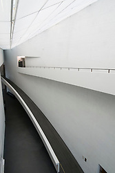 Interior of Kiasma contemporary art museum in Helsinki Finland