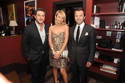 A party to promote the exclusive Puntacana Resort & Club - the Caribbean's Premier Golf & Beach Resort Destination, was held at The Groucho Club, 45 Dean Street London on 12th May 2010.<br /> <br /> Picture shows:-Left to right, LUCA DEL BONO, ROMINA CAFFI and LUCA SANTORO