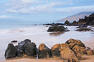 A rocky beach on the Hawaiin coast
