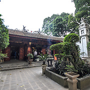 The main courtyard at Quan Thanh Temple in Hanoi. The Taoist temple dates back to the 11th century and is located close to West Lake.